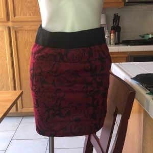 Black and Red Rose skirt!